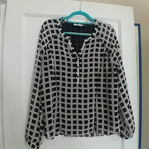 Calvin Klein blouse with sheer sleeves